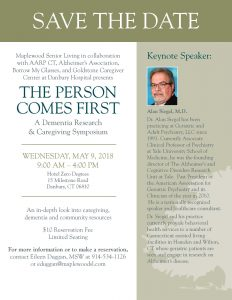 The Person Comes First A Dementia Research & Caregiving Symposium @ Hotel Zero Degrees