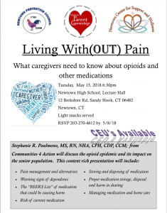 Living With (OUT) Pain @ Newtown High School Lecture Hall