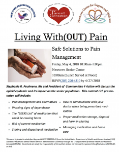 Living With (OUT) Pain @ Newtown Senior Center