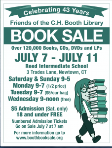 Book Sale Celebrating 43 Years  by the Friends of the C.H. Booth  Library @ Reed Intermediate School