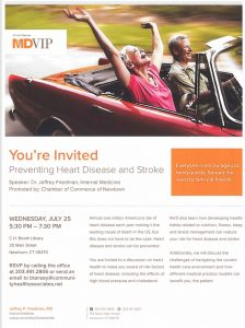 Preventing Health Disease and Stroke presented by MDVIP - Please RSVP @ C.H. Booth Library