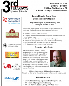 Learn How to Grow Your Business on Instagram @ C.H. Booth Library