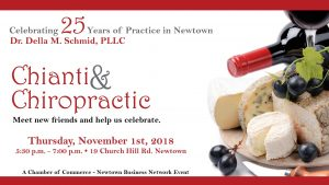 Chianti & Chiropractic Meet new friends and help is celebrate!