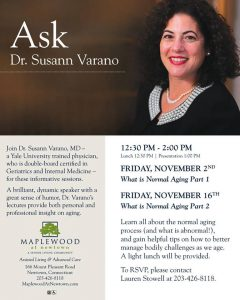Ask Dr. Susann Varano- What is normal Aging Part 1