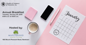 Chamber Commerce of Newtown Annual Meeting 2019 @ Maplewood of Newtown