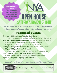 NYA Open House @ NYA Sports and Fitness Center
