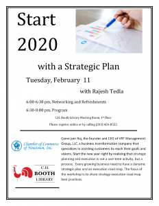 Start 2020  with a Strategic Plan -  Networking and Refreshments @ C.H. Booth Library Meeting Room, 1 st floor