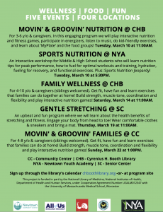 Newtown Spring Wellness & Nutrition Series - click on flier for event dates and details