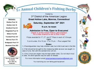1st Annual Children's Fishing Derby @ Great Hollow Lake, Monroe, CT